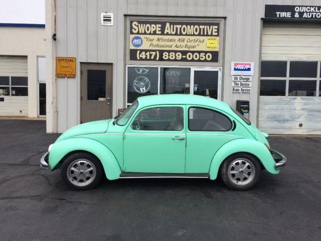 1973 Volkswagen Super Beetle Mint Green Classic