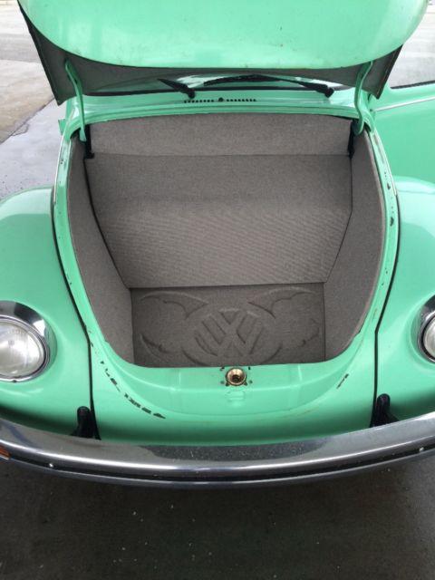 1973 volkswagen super beetle mint green - Classic ...