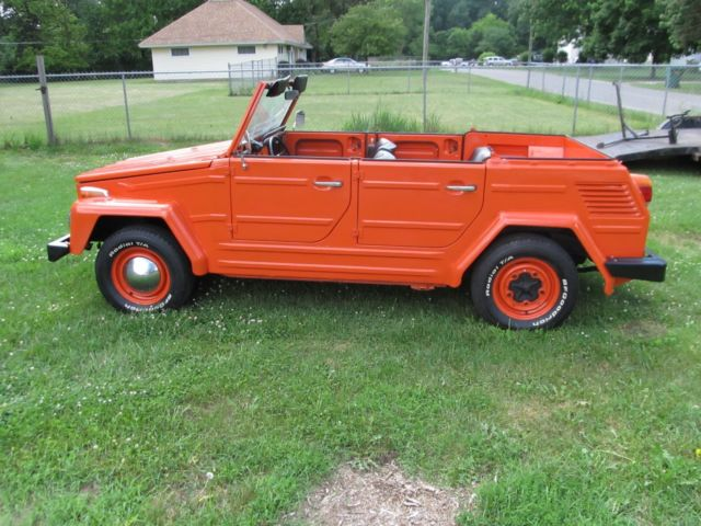 1973 Volkswagen Thing Orange Manual 4 Cyl Clear Title Runs