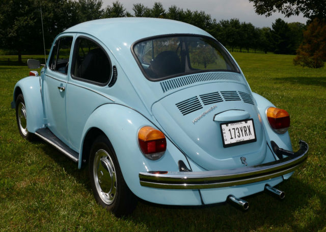 1974 74 vw volkswagen classic beetle bug baby blue auto. Black Bedroom Furniture Sets. Home Design Ideas