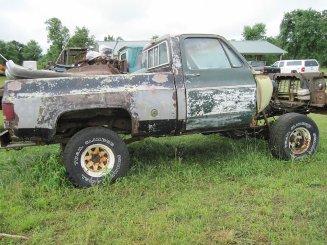 1974 chevy 4x4 short wheel base pickup truck for parts ot. Black Bedroom Furniture Sets. Home Design Ideas
