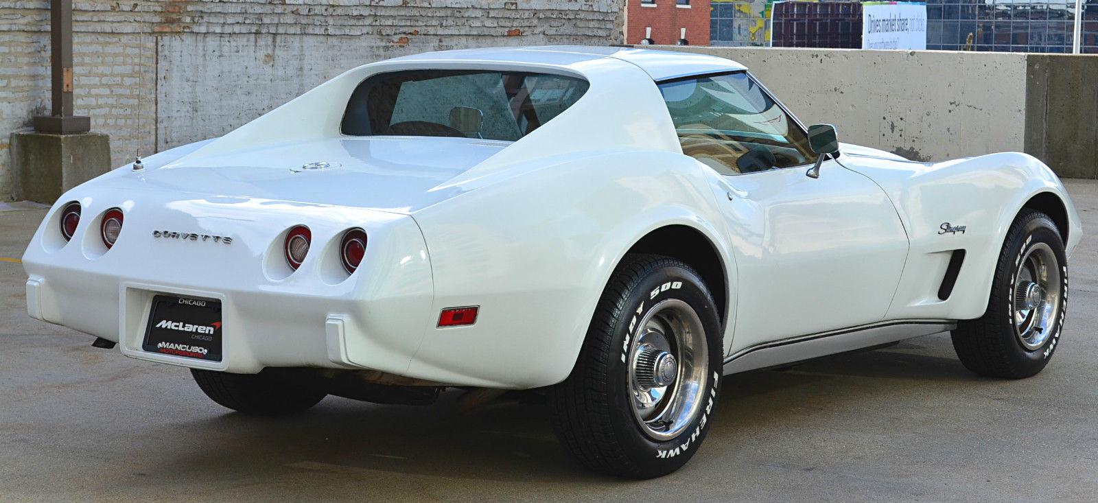 White Corvette Stingray >> 1974 Chevy Corvette Stingray 350 L48 V8 White Auto T-Tops Power Steering PB - Classic Chevrolet ...