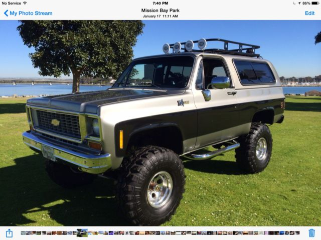1974 Chevy K5 Blazer 4x4 Frame On Restoration Classic