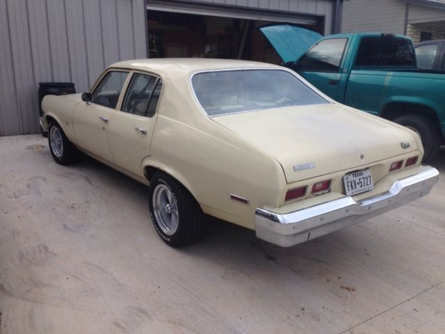 1974 Chevy Nova 4 Door 3 Speed Column Shift 32 000