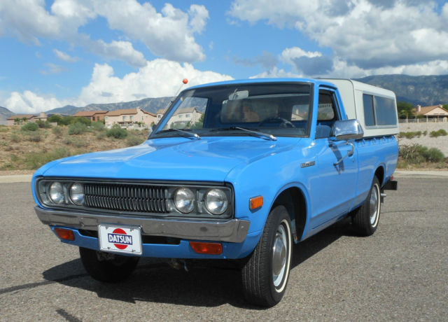 1974 datsun 620 pickup two owners arizona rust free immaculate and original classic datsun. Black Bedroom Furniture Sets. Home Design Ideas