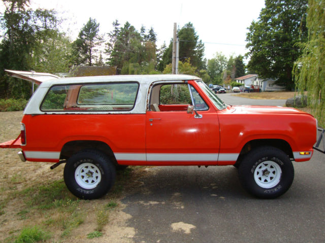1974 Dodge Ramcharger SUV 2 dr convertible (pop-top) mega ...