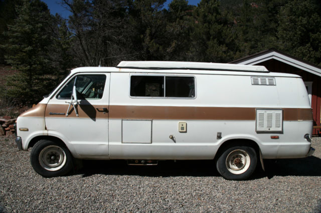 1974 Dodge Sportsman Camper Van Camping RV Conversion Turtle Top