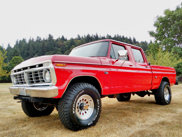1974 ford f 250 4x4 crew cab highboy excellent condition fully restored classic ford f 250. Black Bedroom Furniture Sets. Home Design Ideas