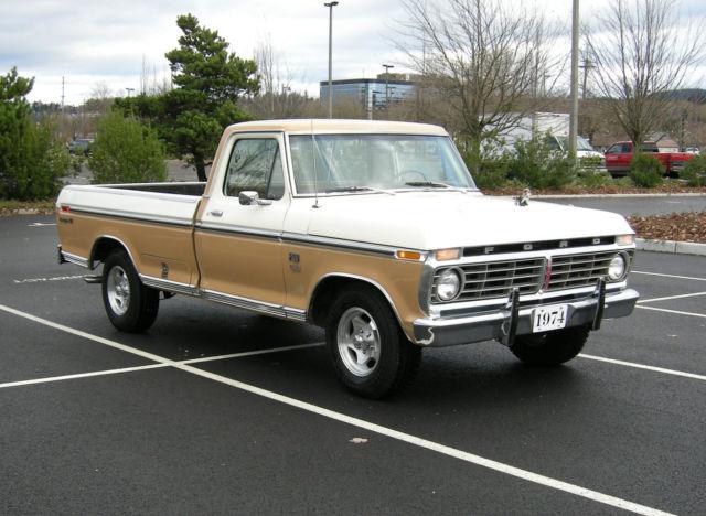 1974 Ford F100 Ranger Xlt Pickup Truck Classic Ford F