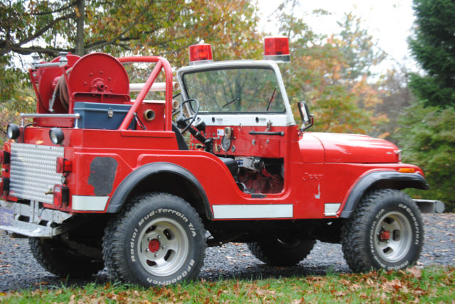 1974 Jeep Cj 5 Fire Truck Brush Truck Classic Jeep Cj 1974 For Sale