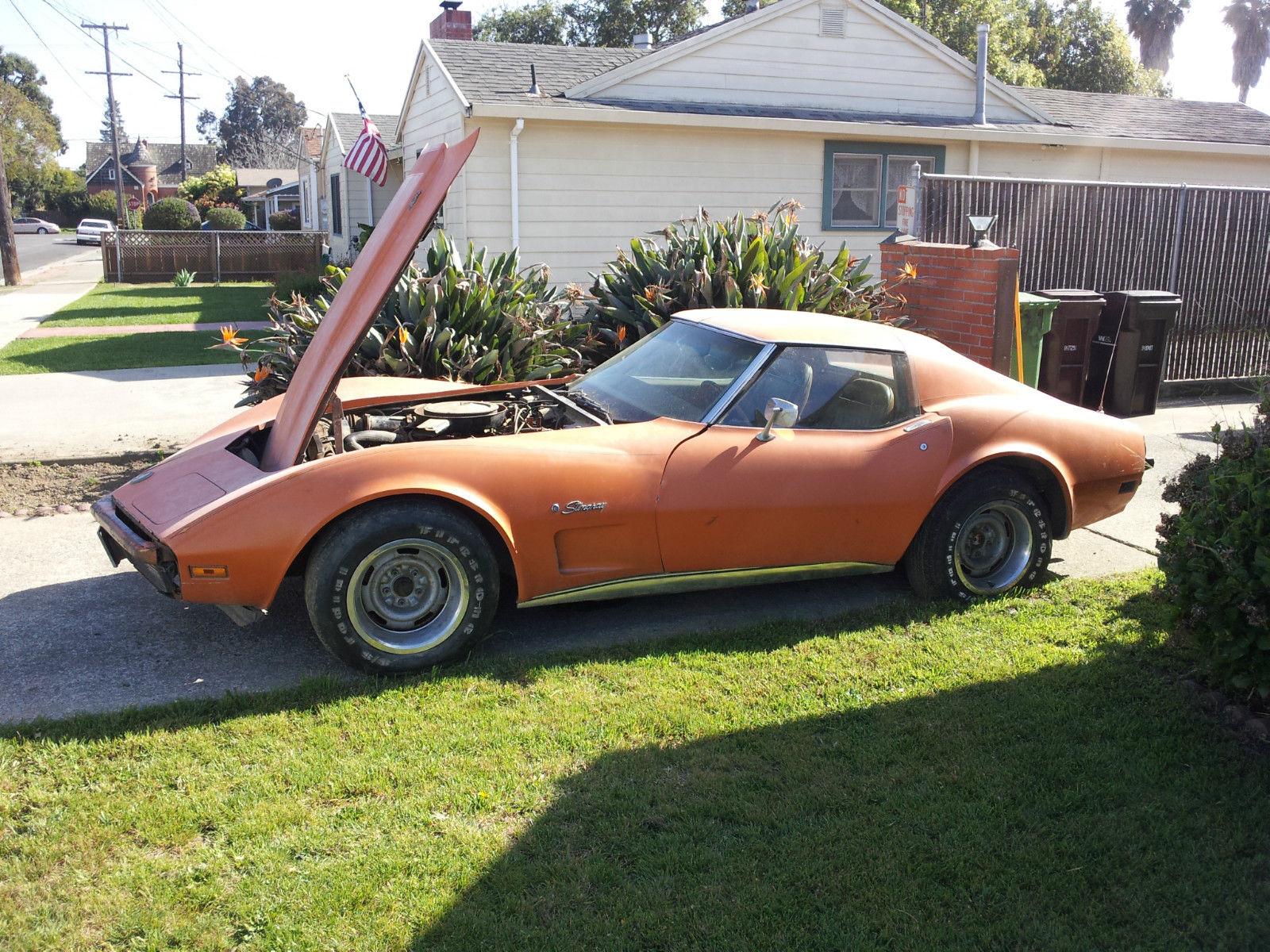 1974 Ls4 454 Big Block Corvette All Original Barn Find