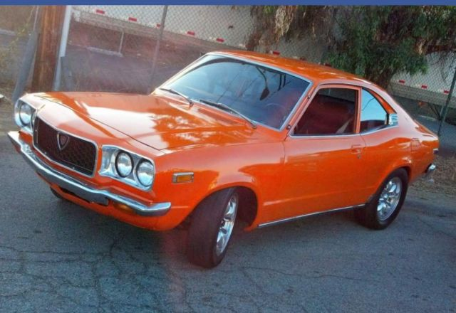 1974 Mazda Rx 3 Rx3 Rotary Sunkist Mandarin Orange