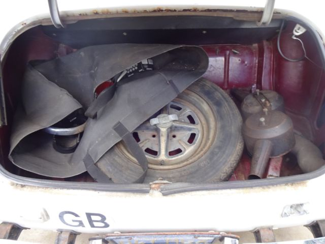 mg midget project car or parts rust motor turns torn
