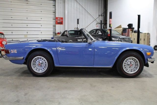 1974 triumph tr6 41635 miles blue convertible 2 5l 6cyl 4 speed w  od classic triumph tr 6 1974 5 speed manual definition 5 speed manual dump truck for sale