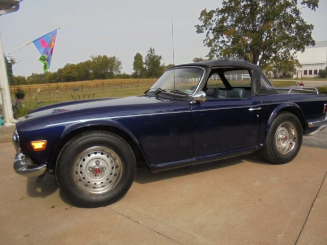 1974 triumph tr6 navy blue with blue interior new paint classic triumph tr 6 1974 for sale. Black Bedroom Furniture Sets. Home Design Ideas