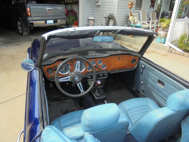 1974 triumph tr6 navy blue with blue interior new paint. Black Bedroom Furniture Sets. Home Design Ideas