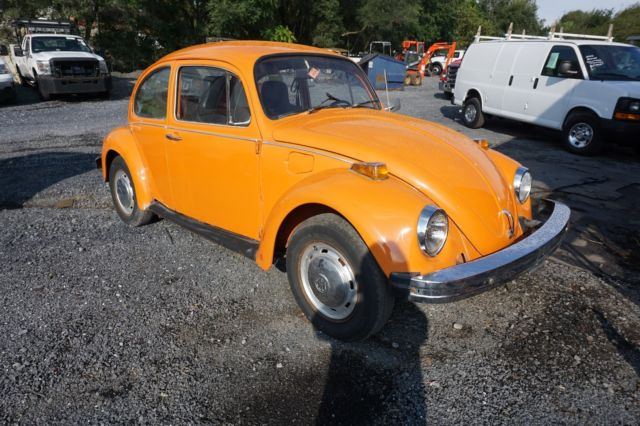 1974 V W Beetle Bug Runs And Lot Drives Project Car