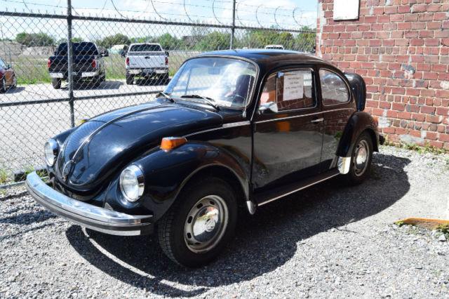 1974 VW Super Beetle Volkswagen A/C Black w/Red Interior - Classic Volkswagen Beetle - Classic ...