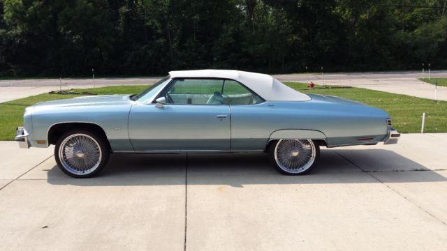 1975 Chevrolet Caprice Classic Convertible 2 Door Lt Blue