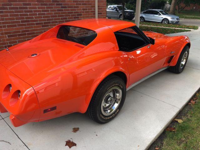 1975 Corvette Coupe L82 Orange With Black Interior