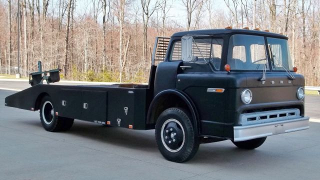 1975 Ford C 600 Coe Ramp Truck Wedge Body Car Hauler