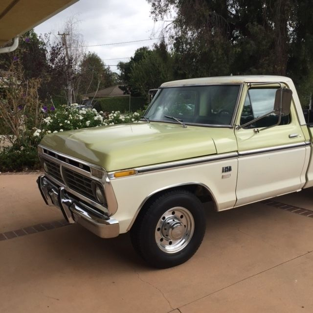 1975 ford f250 390ci camper special 2wd ranger ca truck classic ford f 250 1975 for sale. Black Bedroom Furniture Sets. Home Design Ideas