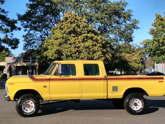 1975 ford f250 4x4 crew cab highboy excellent condition 80k worldwide no reserve classic ford