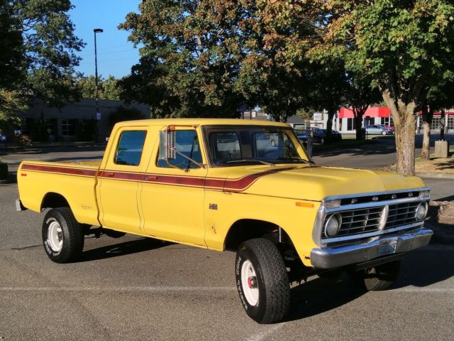 1975 ford f250 4x4 crew cab highboy excellent condition 80k worldwide reserve classic ford f. Black Bedroom Furniture Sets. Home Design Ideas