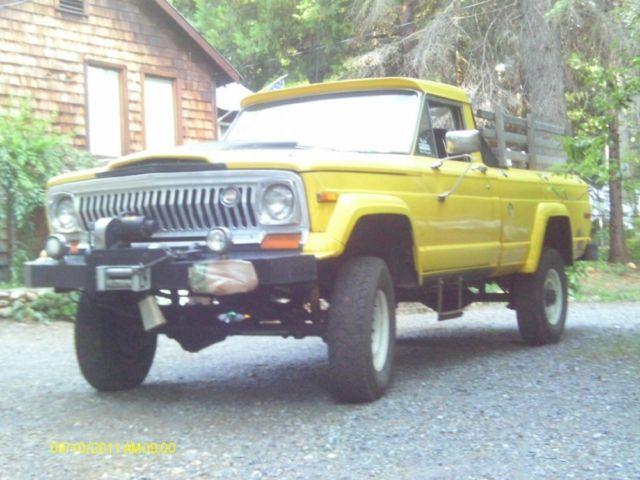 1975 jeep gladiator j series v8 diesel 5 speed rock crawler rat rod firewood classic jeep. Black Bedroom Furniture Sets. Home Design Ideas