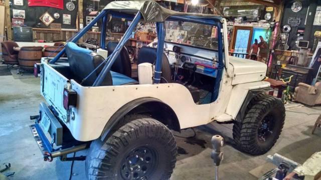 Flat Fender Jeep >> 1975 Jeep Willys CJ5 / CJ3B Flat Fender High Hood White CJ ...