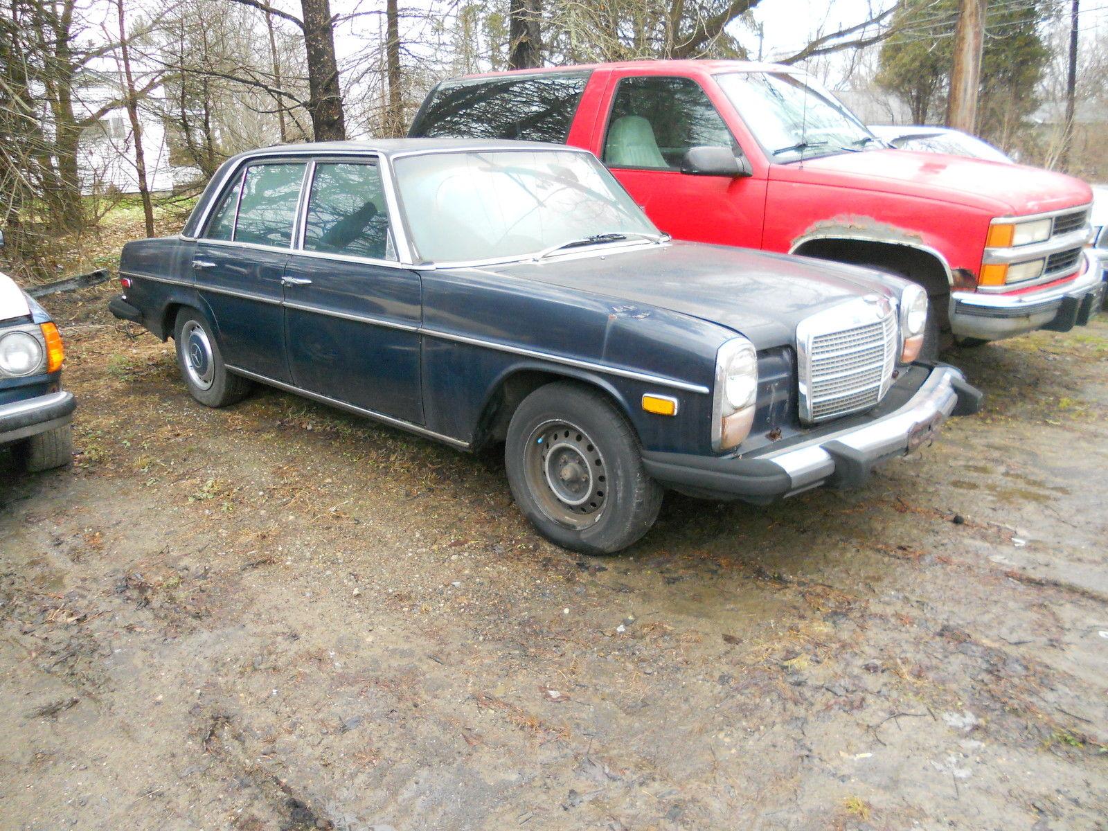 1975 mercedes benz 300d 4 door 79 515 miles rare diesel for Mercedes benz diesel models