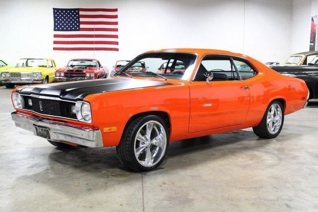 1975 plymouth duster 987 miles orange 390 v8 4 speed automatic classic plymouth duster 1975. Black Bedroom Furniture Sets. Home Design Ideas