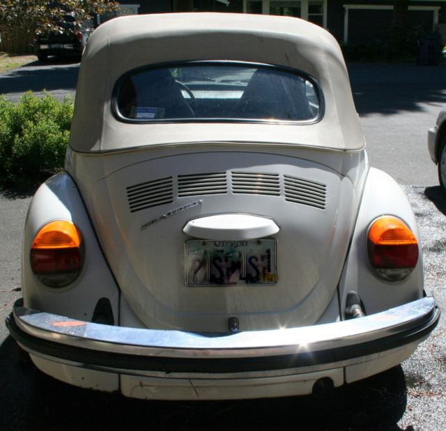 Volkswagen Bug For Sale: 1975 VW Convertible Super Beetle
