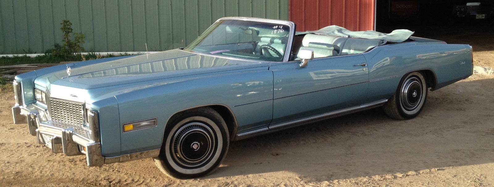 1976 cadillac eldorado convertible 2 door 8 2l blue with blue leather 89 706 classic cadillac. Black Bedroom Furniture Sets. Home Design Ideas