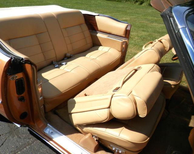 1976 Cadillac Eldorado Convertible Amberlite Firemist With Fleetwood Interior Classic Cadillac