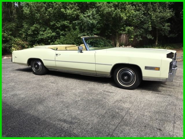 1976 Cadillac Eldorado Convertible Power White Top Hard
