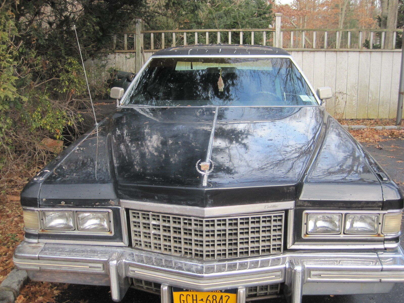 1976 Cadillac Fleetwood Talisman Triple Black Plush Velour