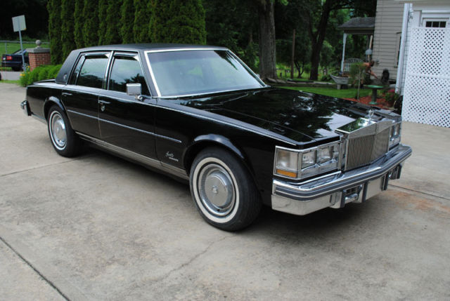 1976 cadillac seville   clean car 3 owner all black   classic cadillac seville 1976 for sale