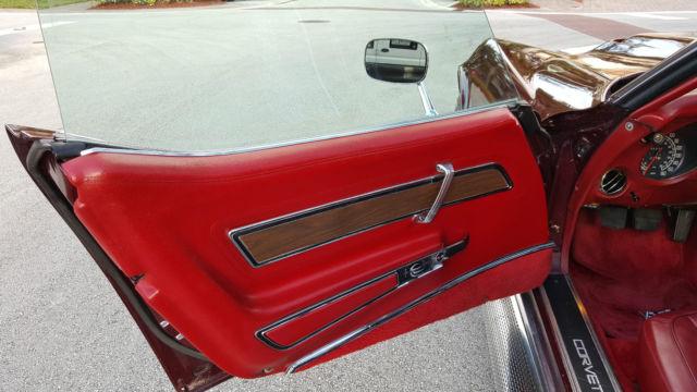 1976 Chevrolet Corvette Stingray Manual T Top Side