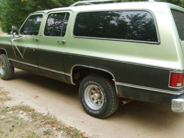 1976 chevrolet suburban silverado 400 4wd classic