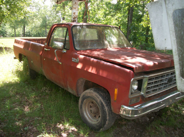 1976 chevy 3 4 ton 4 x 4 pick up bucket truck parts truck chevrolet automatic classic. Black Bedroom Furniture Sets. Home Design Ideas