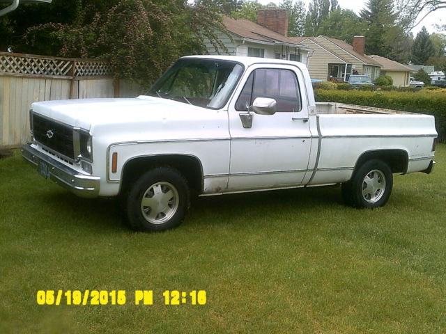 1976 Chevy C10 Gmc 15 Short Wide 2wd Factory 454 Has 350