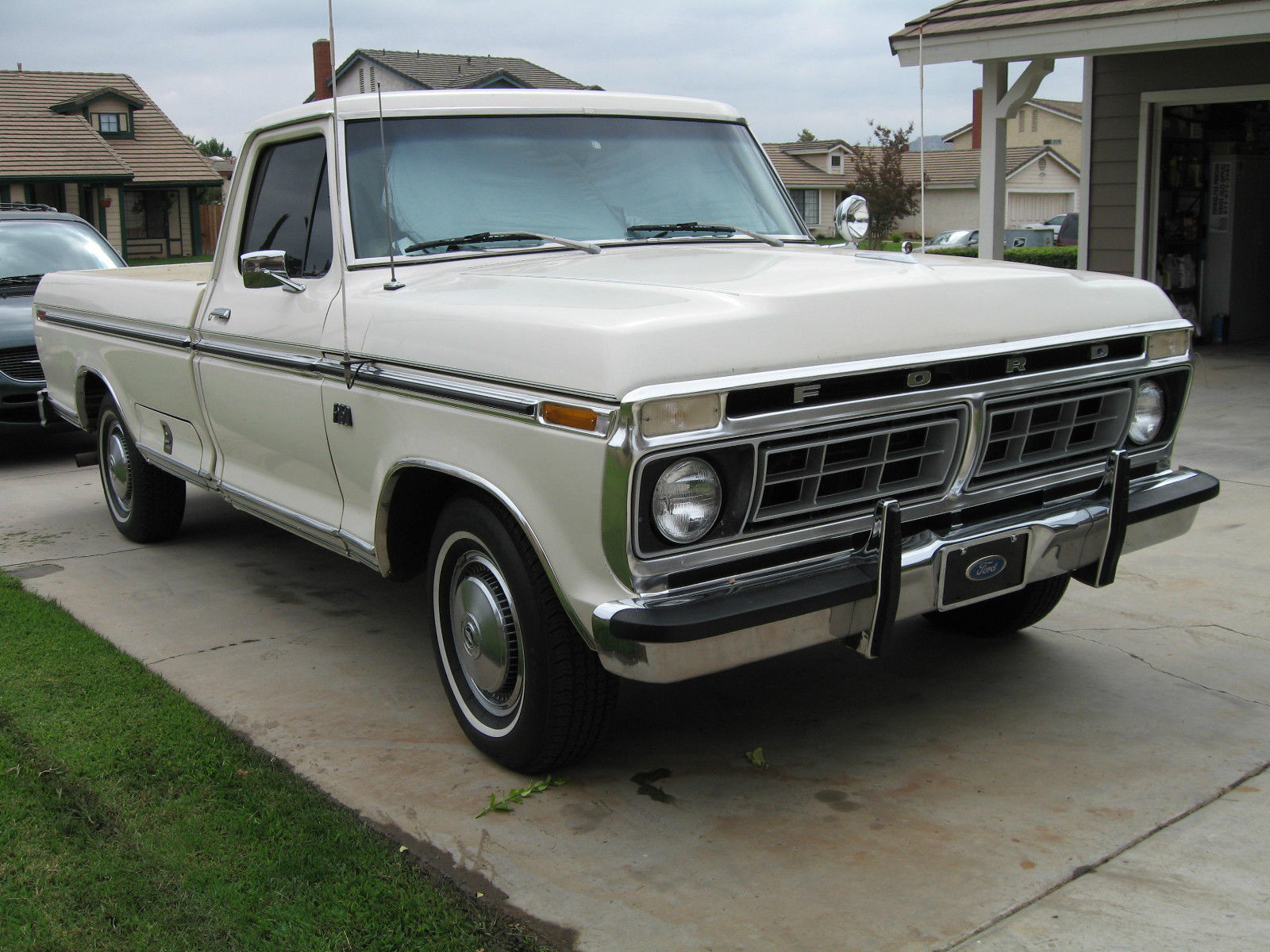 1976 f150 mint condition white wimbledon 460ci all. Black Bedroom Furniture Sets. Home Design Ideas