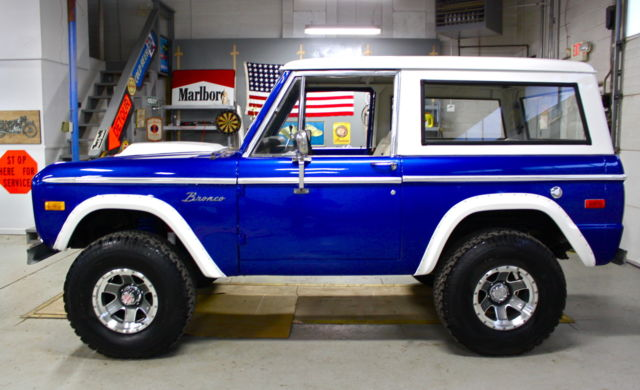 1976 ford bronco 302 auto fresh build blue wht 4x4 clean low res classic ford. Black Bedroom Furniture Sets. Home Design Ideas
