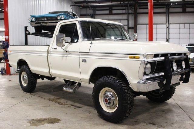 1976 Ford F250 88051 Miles Wimbledon White Pickup Truck
