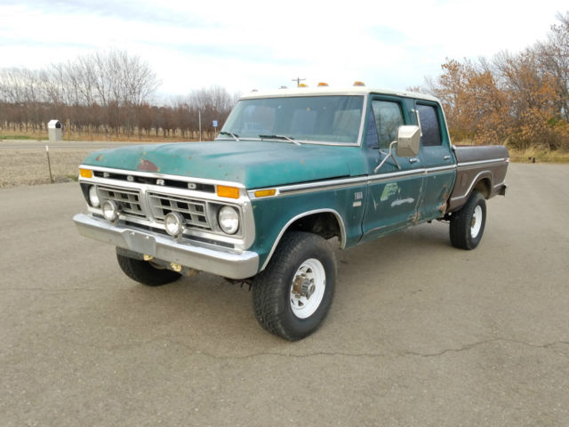 1976 Ford F250 Ranger Xlt Crew Cab 4x4 4spd Classic Ford