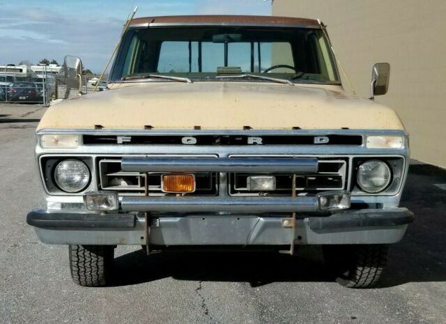1976 ford f250 ranger xlt extended cab w 4x4 parts truck classic ford f 250 1976 for sale. Black Bedroom Furniture Sets. Home Design Ideas