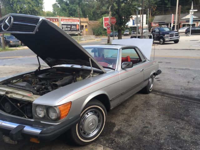 1976 mercedes 450slc red leather interior classic for 1976 mercedes benz for sale