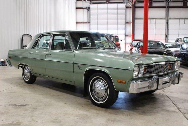 1976 Plymouth Valiant 34429 Miles Green Sedan 6 Cylinder