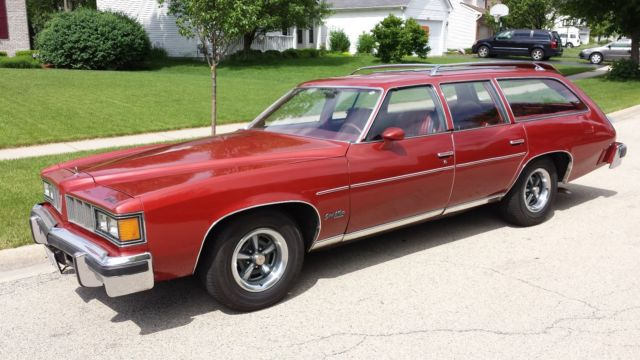 1976 pontiac grand lemans safari wagon no reserve. Black Bedroom Furniture Sets. Home Design Ideas